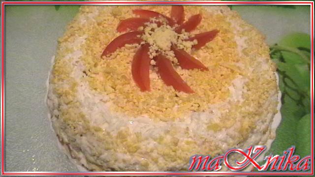 закусочный торт из коржей