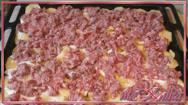 картофель фаршем запеченный в духовке с фото