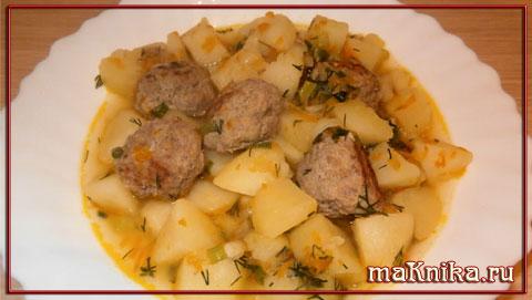 картофель-с-фрикадельками1