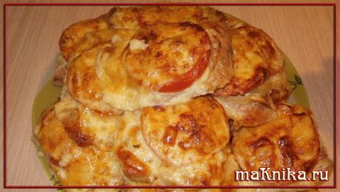 myaso po frantsuzski1 Мясо по французски с помидорами