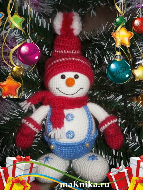 Для вязания снеговика