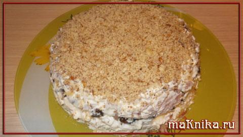salat s myasom i chernoslivom Салат с черносливом и курицей