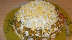 салат сыр зелёный горошек