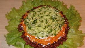 салат фасоль свежий огурец
