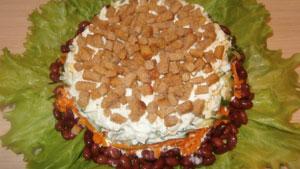 салат слоями с фасолью