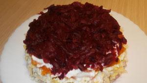 салат со свёклы с чесноком