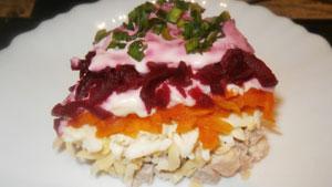 простой салат со свёклой