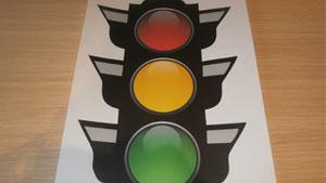 аппликация светофор