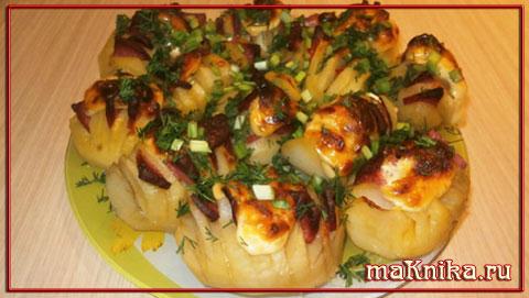 картошка-запечённая-с-колбасой-в-духовке1
