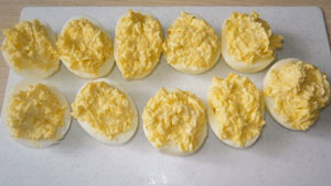 яйца фаршированные сыром