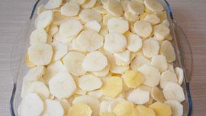 картошка с ветчиной и сыром